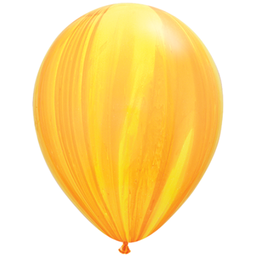 Yellow Orange Marble Balloon