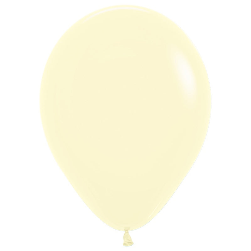 Pastel Matte Yellow Balloon