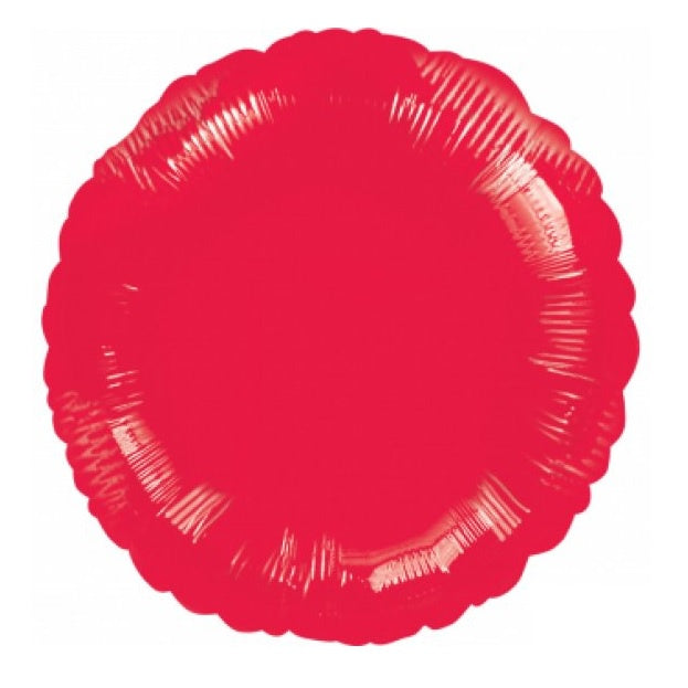 Metallic Red Round Foil Balloon