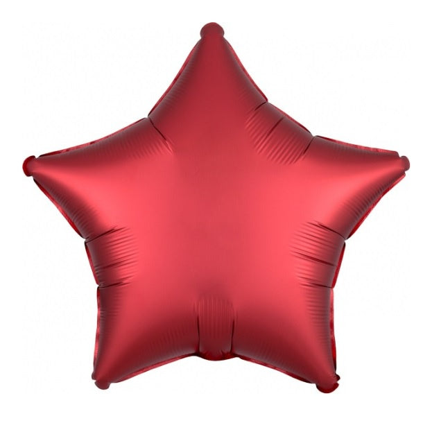 Satin Luxe Sangria Star Foil Balloon