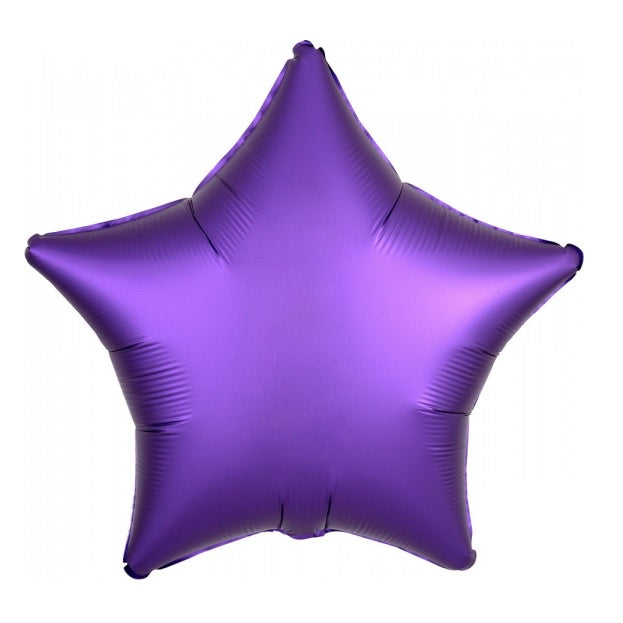 Satin Luxe Purple Royale Star Foil Balloon