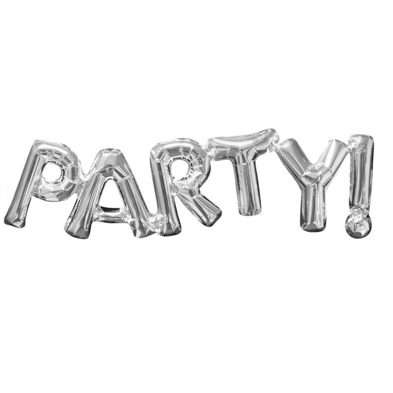 Silver Foil Balloon Banner Phrase - Party