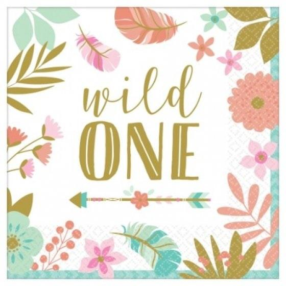 Boho Birthday Wild One Napkins - Lunch