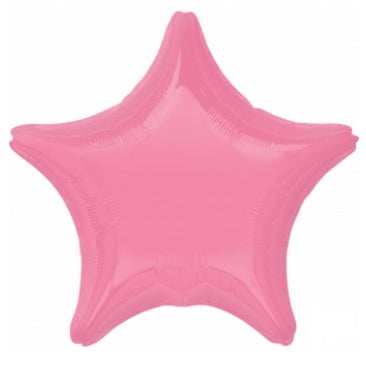 Bright Bubble Gum Pink Star Foil Balloon