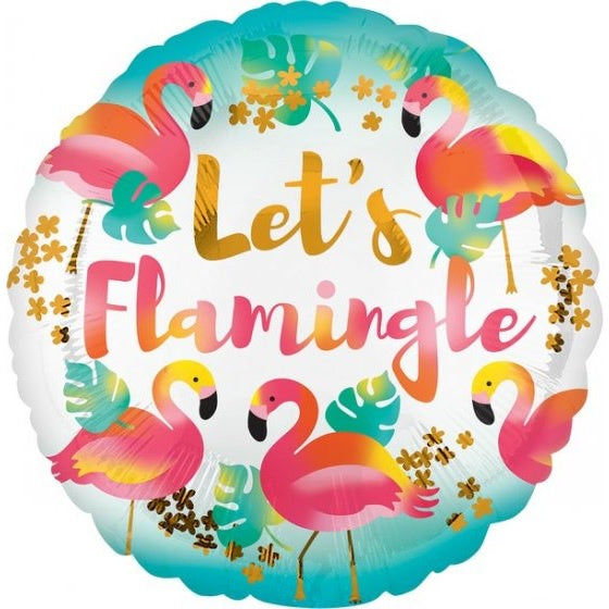 Lets Flamingle Foil Balloon