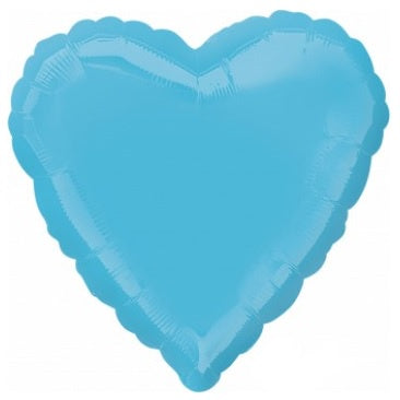 Caribbean Blue Heart Foil Balloon