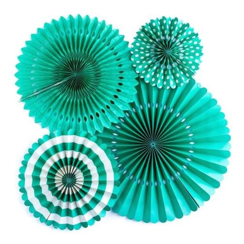 My Minds Eye Basics Party Fans - Teal
