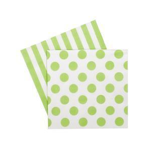 Paper Eskimo Apple Green Napkins - Beverage