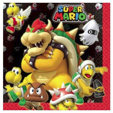 Super Mario Brothers Napkins - Lunch