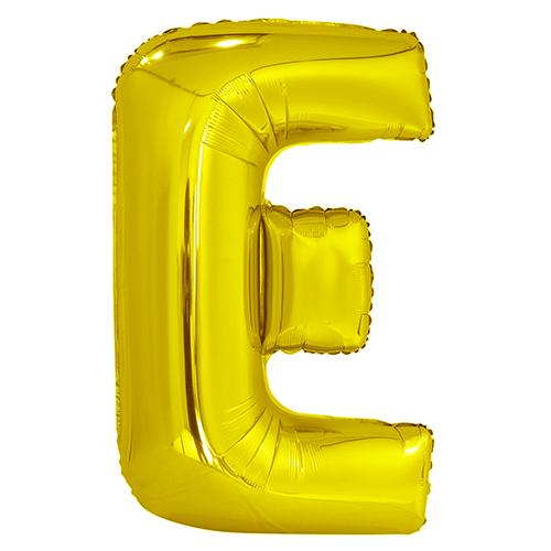 Giant Gold Letter Foil Balloon - E