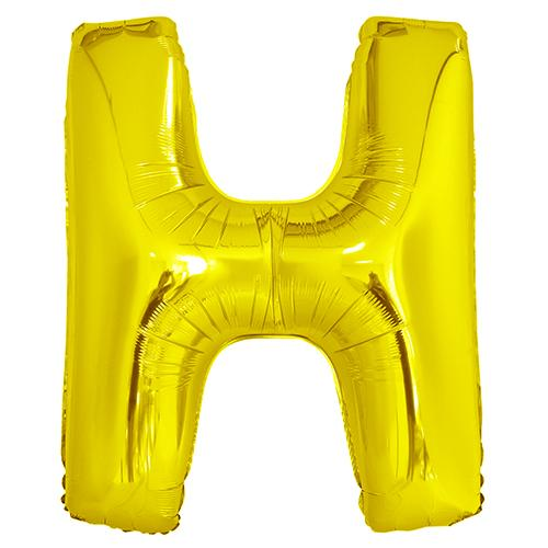 Giant Gold Letter Foil Balloon - H