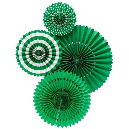 My Minds Eye Basics Party Fans - Green