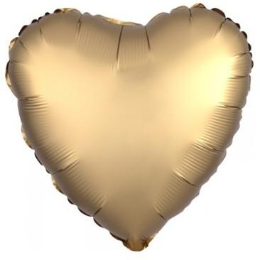 Satin Luxe Gold Heart Foil Balloon