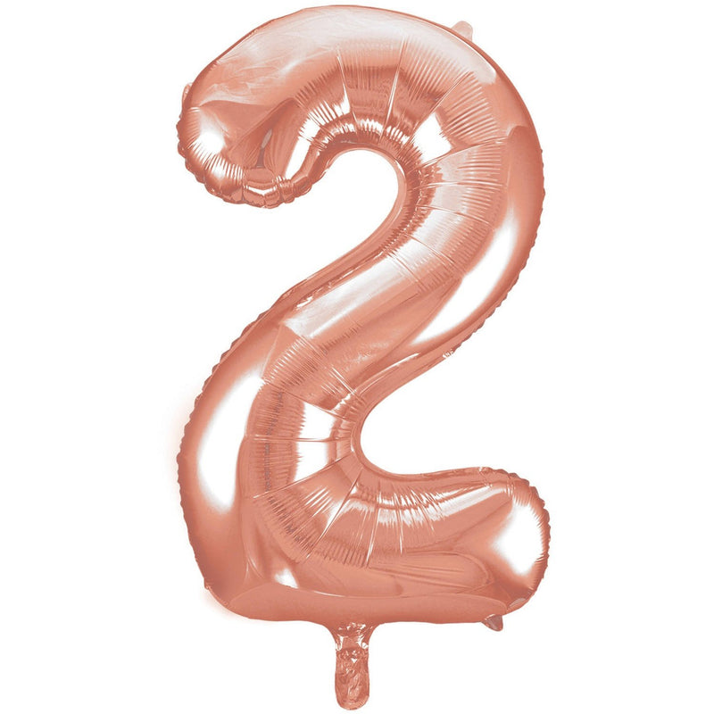 Giant Rose Gold Number Foil Balloon - 2