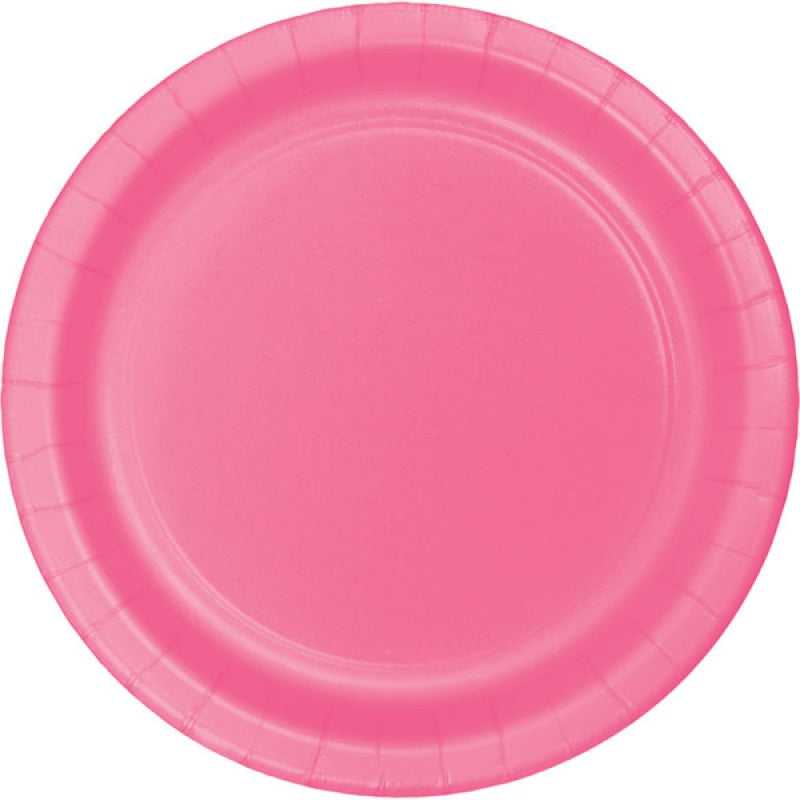 Candy Pink Plates - Lunch