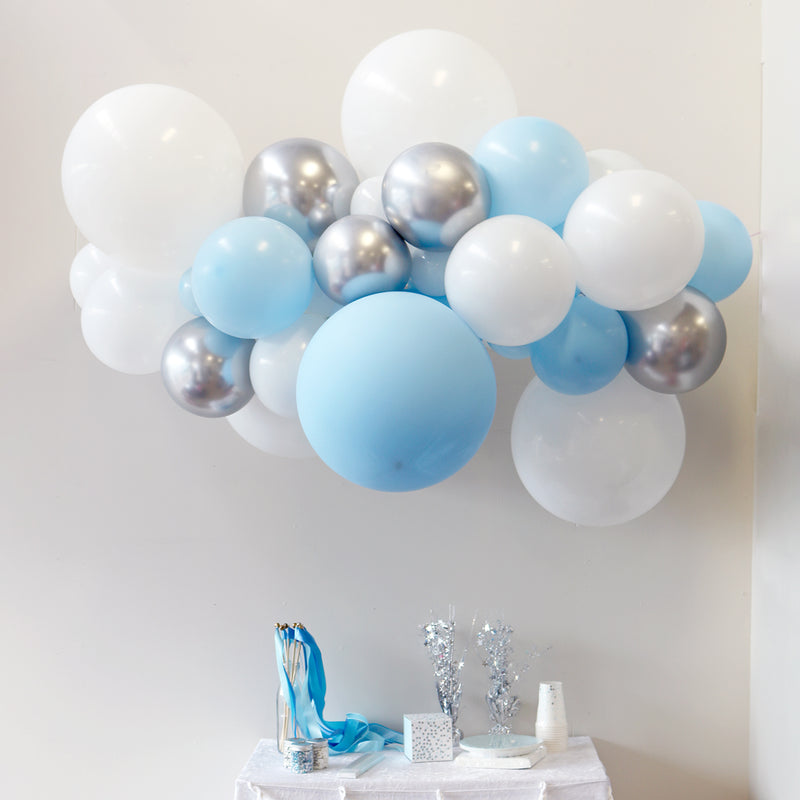 Blue White & Silver Balloon Garland | Frozen Party Supplies
