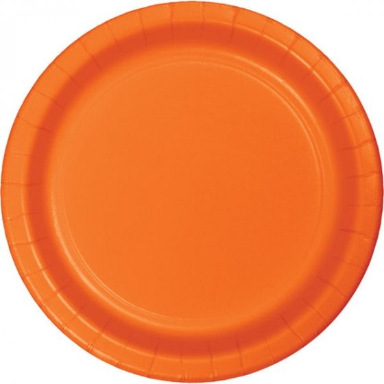 Sunkissed Orange Plates - Lunch