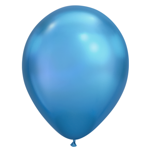 Chrome Balloon - Blue