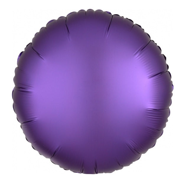Satin Luxe Purple Royale Round Foil Balloon