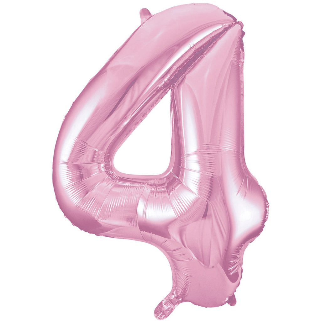 Giant Lovely Pink Number Foil Balloon - 4