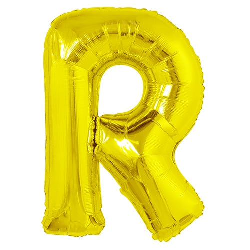 Giant Gold Letter Foil Balloon - R