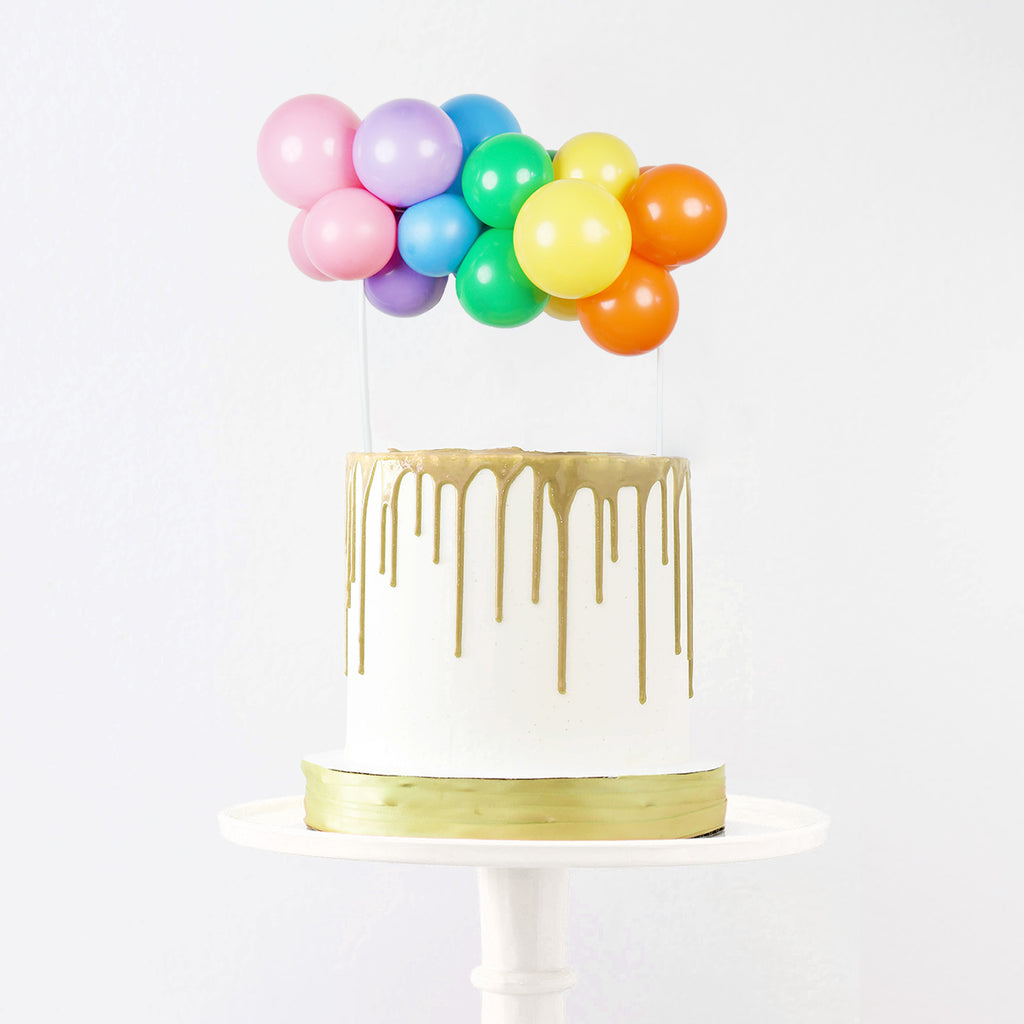 Rainbow Balloon Cake Topper | Rainbow Balloon Garland