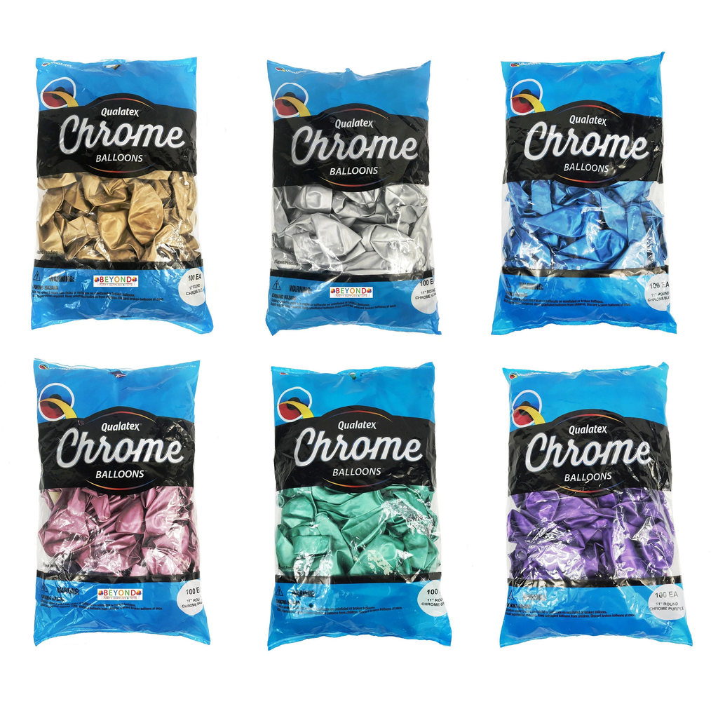 Bag of Qualatex Chrome Balloons
