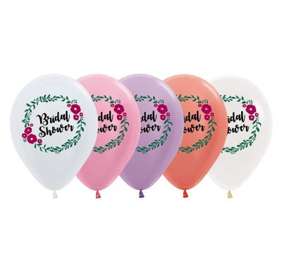 Floral Wreath Bridal Shower Balloon