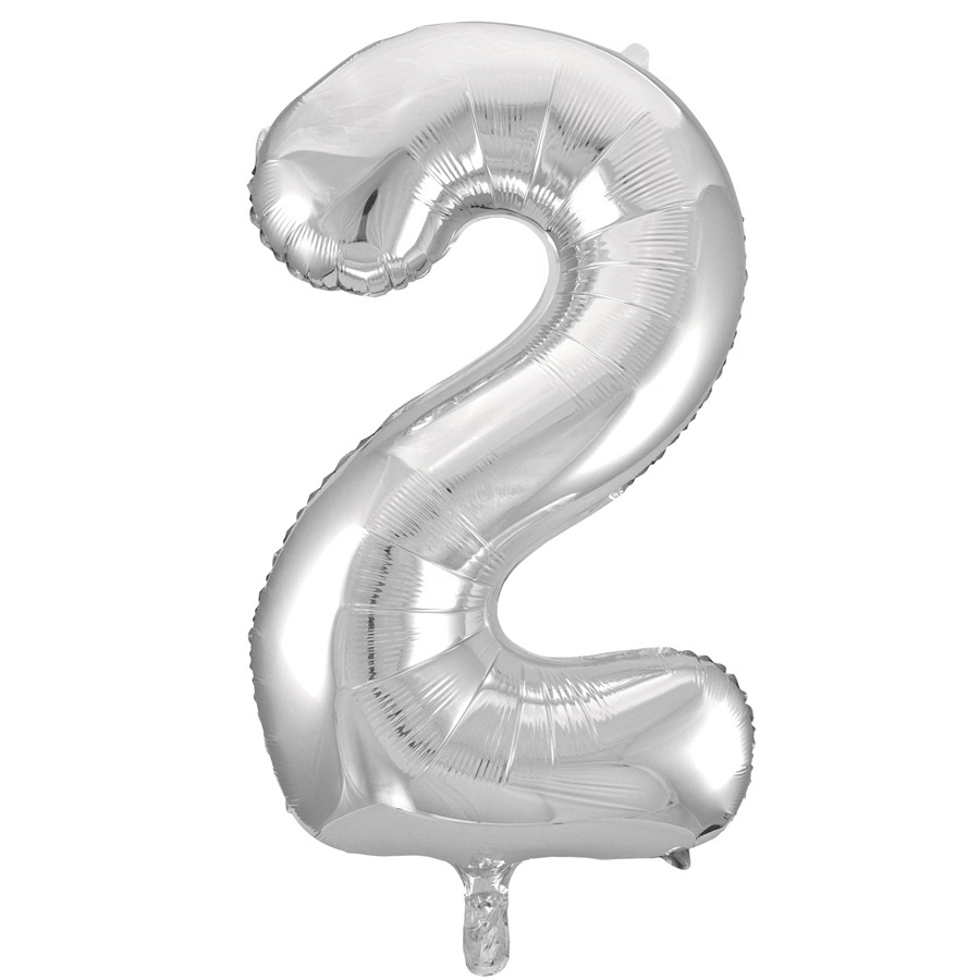 Giant Silver Number Foil Balloon - 2