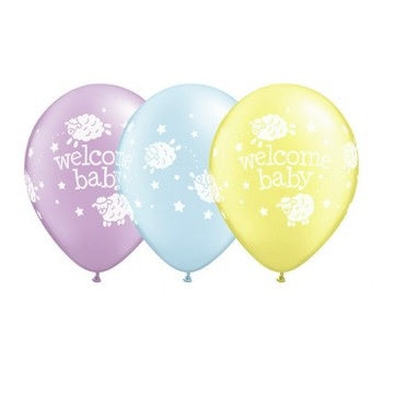 Welcome Baby Lambs Balloon