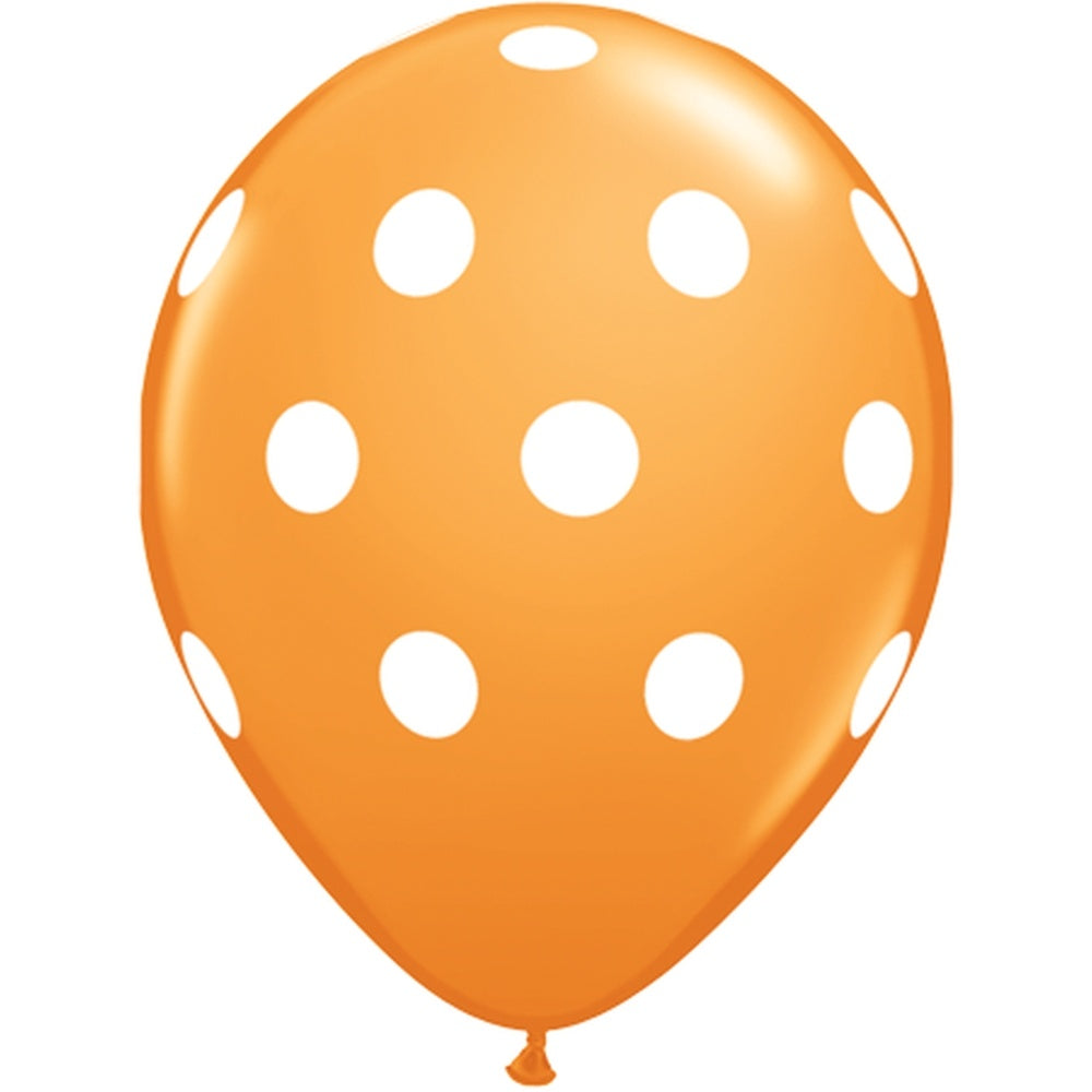 Orange Polka Dot Balloon