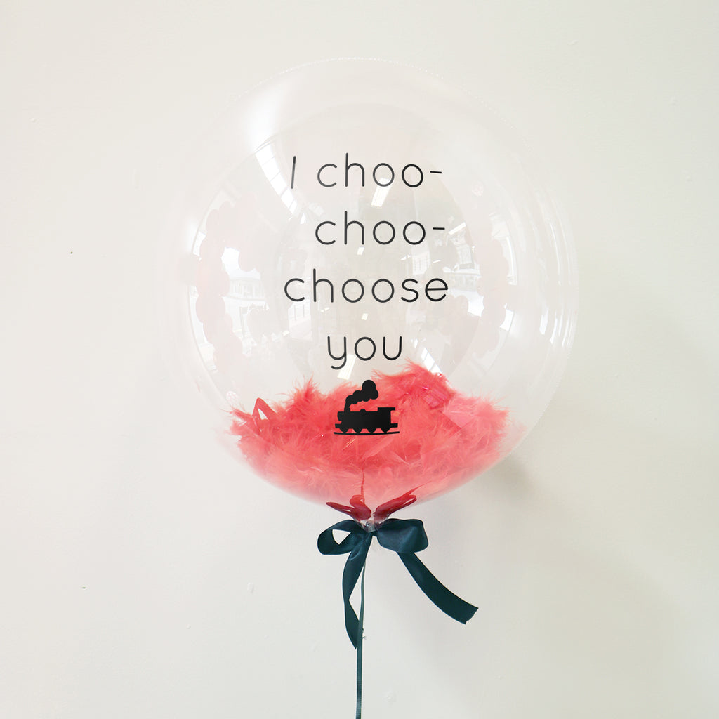 I Choo Choo Choose You Balloon | Valentines Balloons Wellington