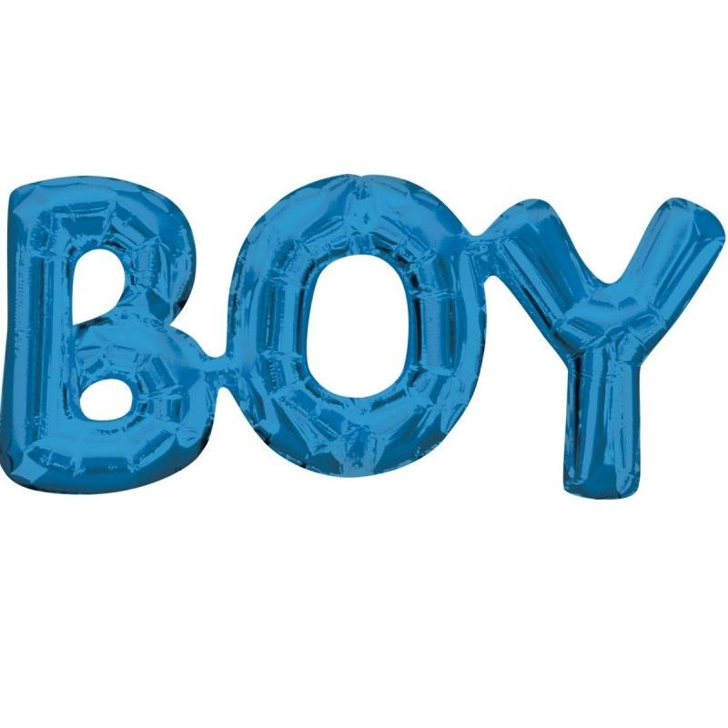 Blue Foil Balloon Banner Phrase - Boy