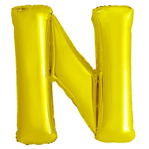 Giant Gold Letter Foil Balloon - N