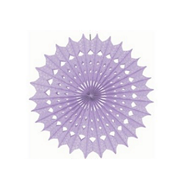 Damask Purple Paper Fan 16 Inch