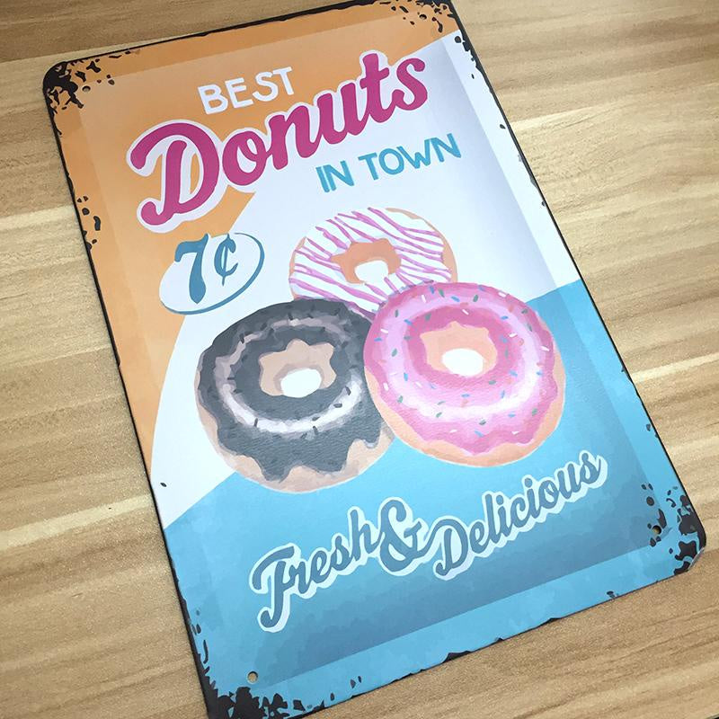 Vintage Donut Wall Sign Hire