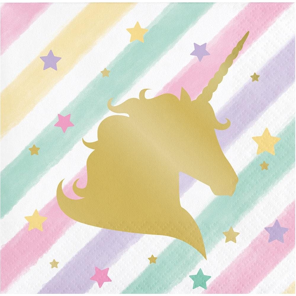 Unicorn Sparkle Napkins - Beverage