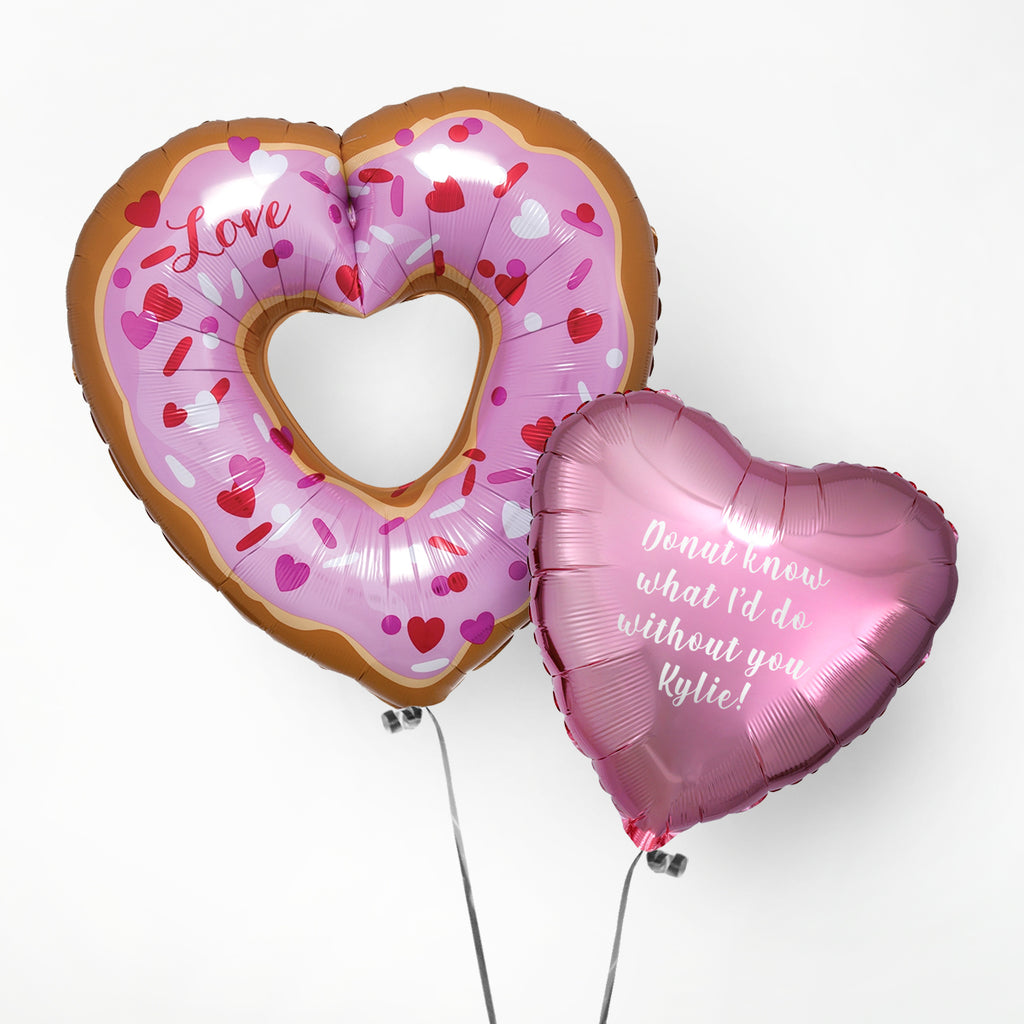 Valentines Donut Personalised Foil Duo
