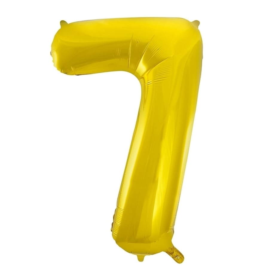 Giant Gold Number Foil Balloon - 7