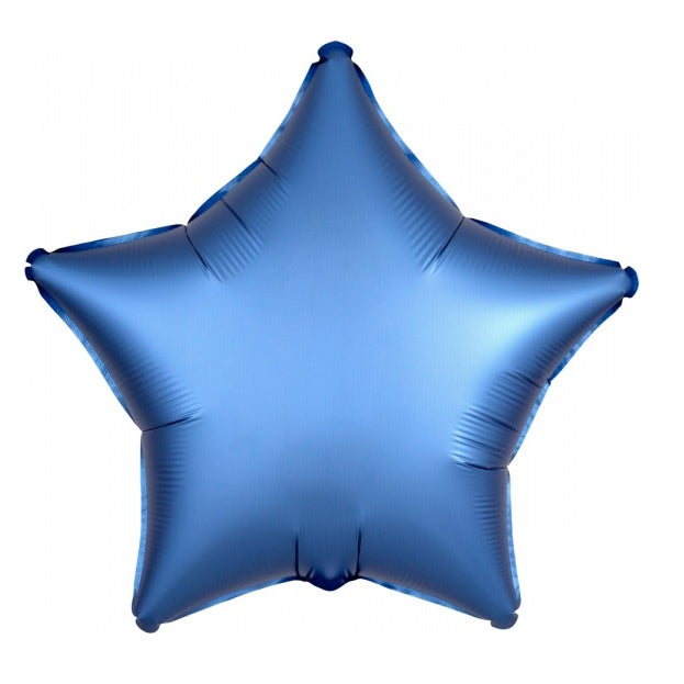 Satin Luxe Azure Star Foil Balloon
