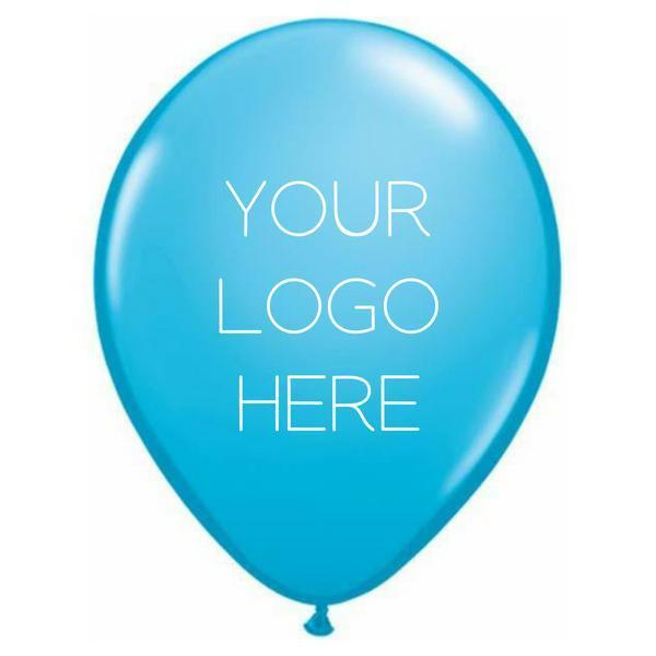 "Custom Printed 11"" Latex Balloon - One Side - Pack of 200"