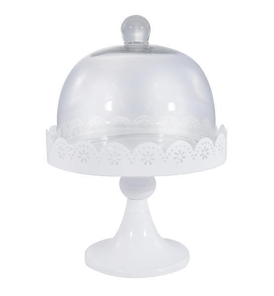 Doily Lace Domed Cake Stand Hire