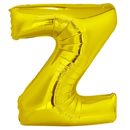 Giant Gold Letter Foil Balloon - Z