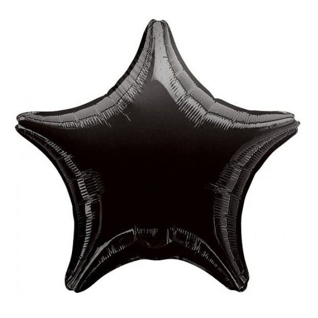 Metallic Black Star Foil Balloon
