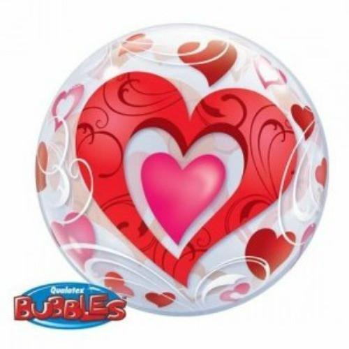 Fancy Hearts Bubble Balloon