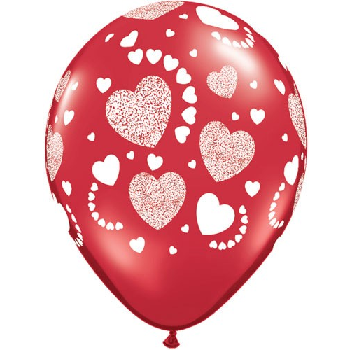 Etched Hearts Balloon