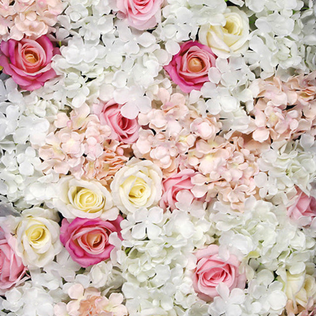 Pink & White Flower Wall Hire | Event Hire Wellington