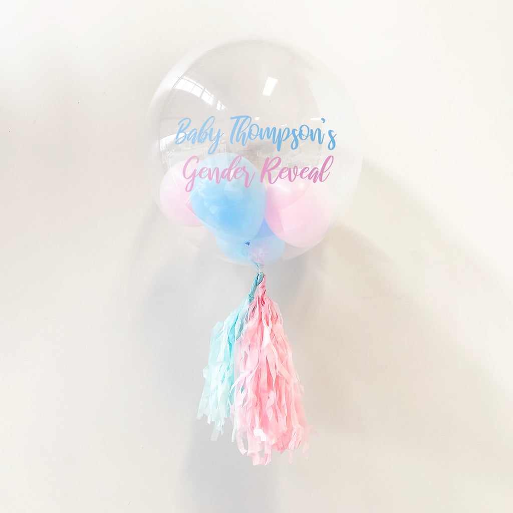 Gender Reveal Personalised Bubble Balloon