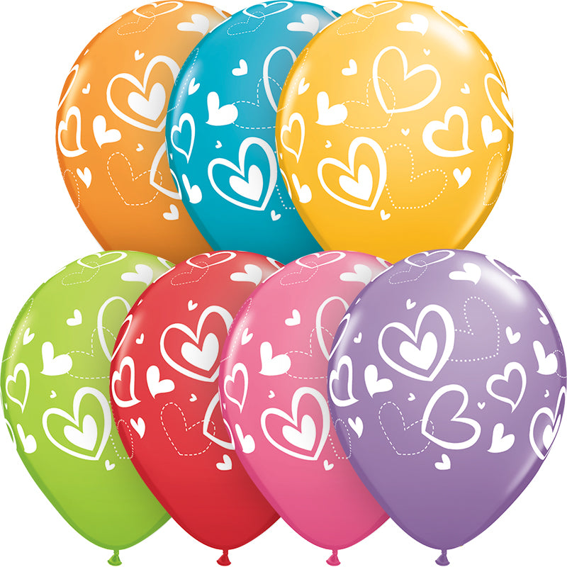 Mix & Match Hearts Balloon