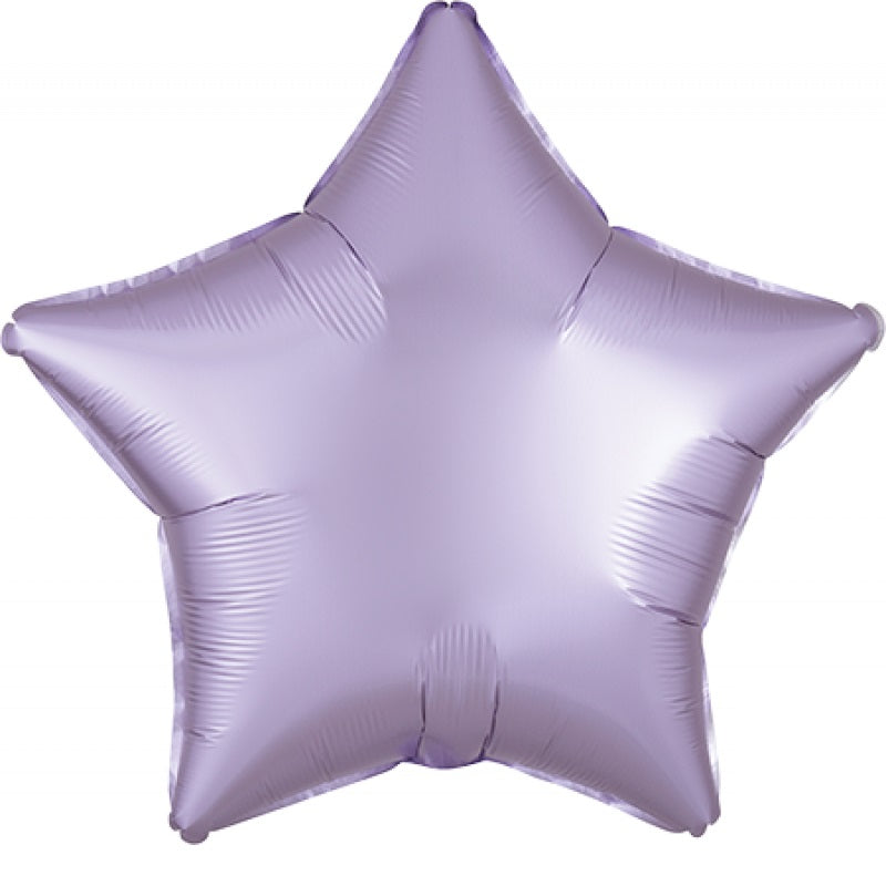 Satin Luxe Pastel Lilac Star Foil Balloon